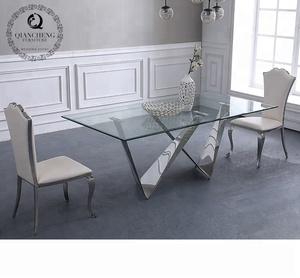 dining room furniture luxury glass dinner table 6 chairs sets