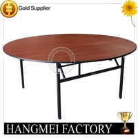 Wood top banquet table foldable round restaurant tables from China