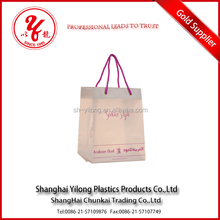 Patch Handle Sealing Handle and Accept Custom Order High Quality plastic lined kraft paper bag