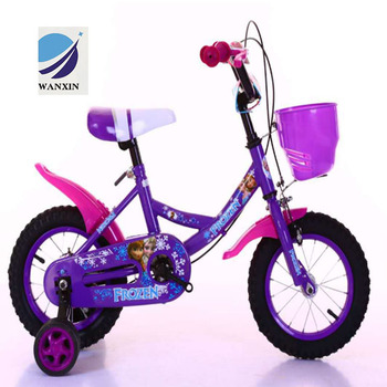 4867a94a7bc 2018 Kids Bike Purple 12/14/16 Inch Children Four Wheel Bicycle for Training