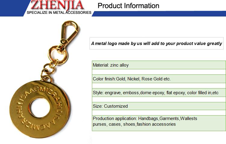 chain logo metal for handbag