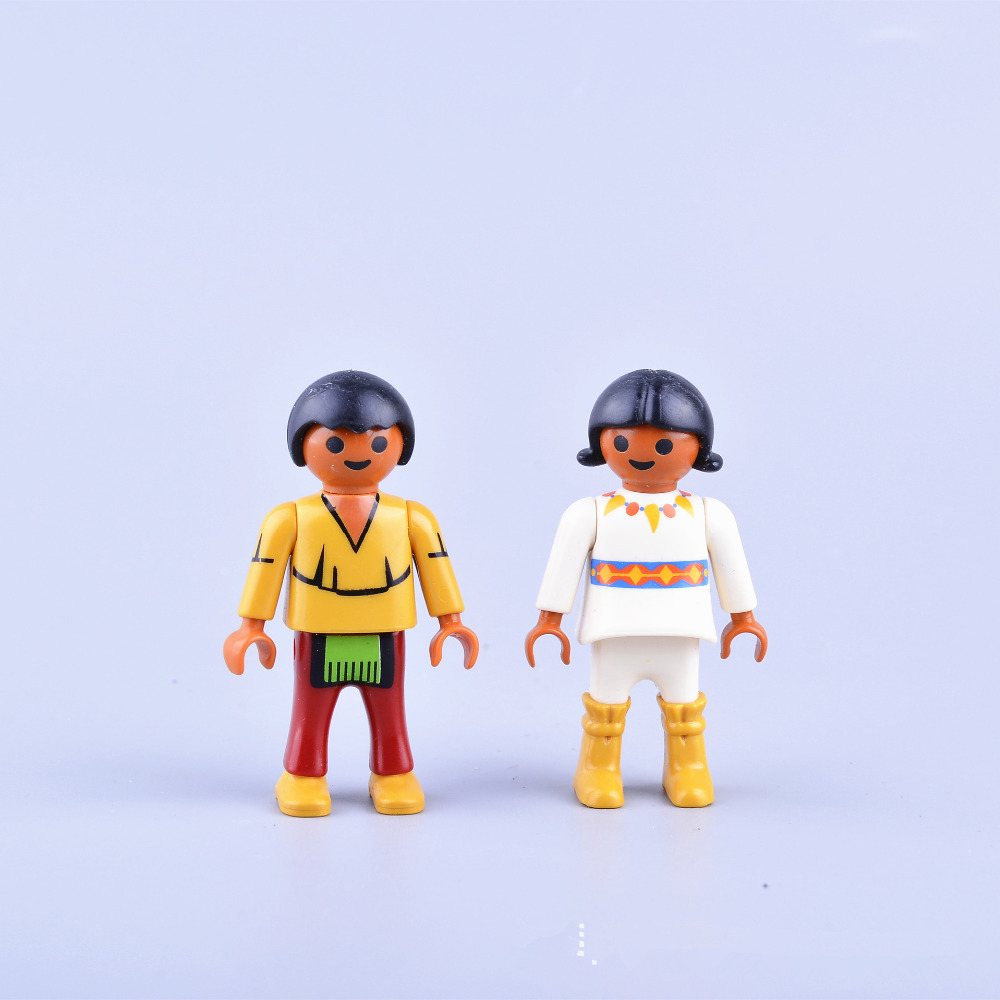 10pcs/Set 7.5CM Height Cute Playmobil Toy Doll Kids Playmobil Juguetes Toys