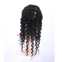wholesale low price 9A grade cuticle aligned 360 deep wave curly indian unprocessed virgin hair top full lace frontal closure