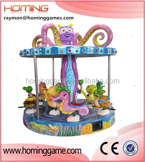 2015 hot sale amusement carousel rides/New design beautiful ocean style merry go round for kids and adults for outdoor fun