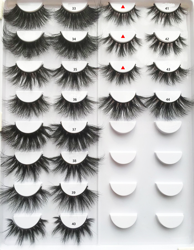 Factory high quality mink eyelashes private logo label 3d lashes invisible band, Natural black strip eyelashes