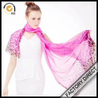 Manufactory direct custom digital printed long neck scarves for women