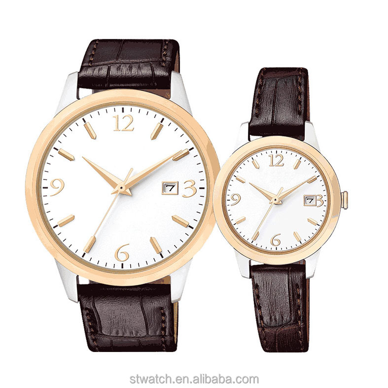 2017 new stainless steel watch rose gold case best gift couple watches