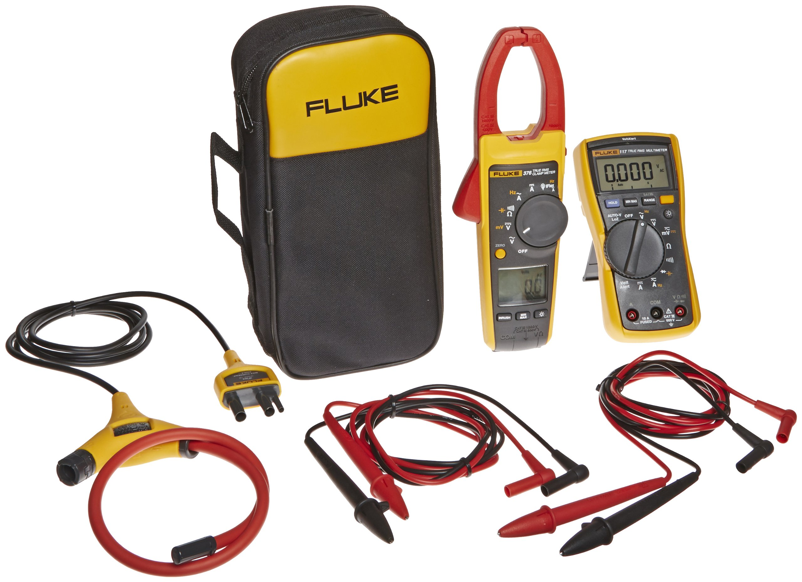 """Fluke VT04-ELEC-KIT Electrical Kit for Visual Infrared Thermometer, Includes IR Thermometer, Digital Multimeter, and True-RMS Clamp Meter."""
