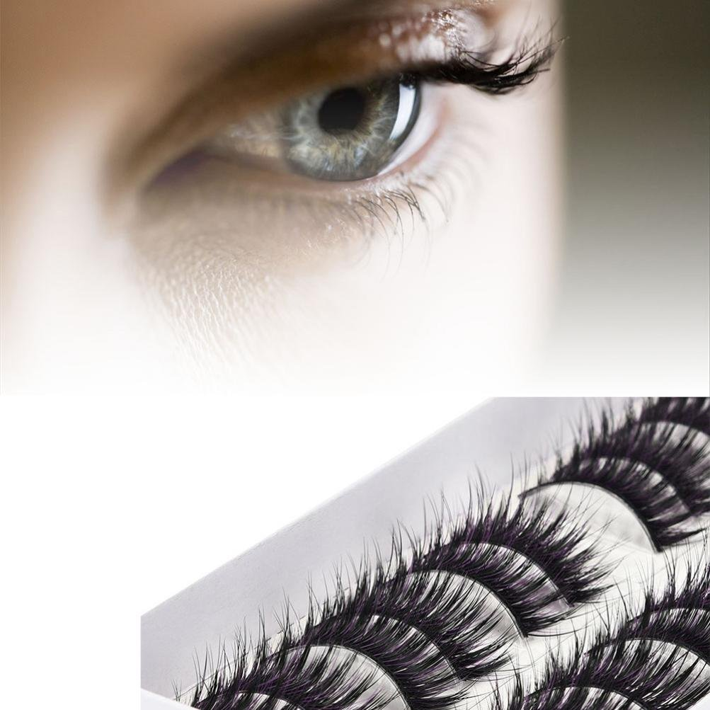 723a44ea279 Get Quotations · Eyelashes Pack, Makeupstore 10 Pairs Lashes Handmade False  Eyelashes Set Professional Fake Eyelashes Pack,