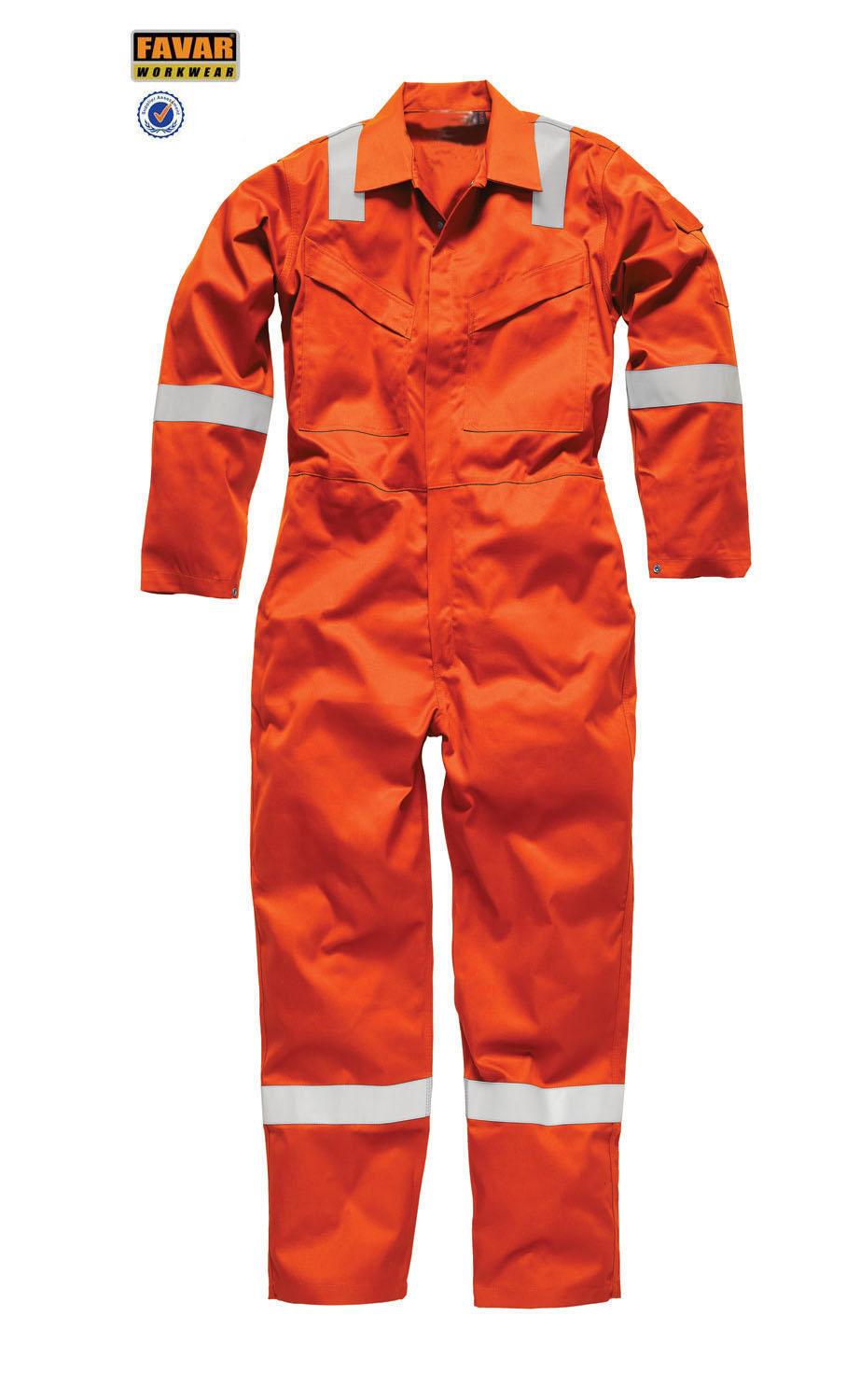 mens high visisbility stripe flame resistant orange coverall