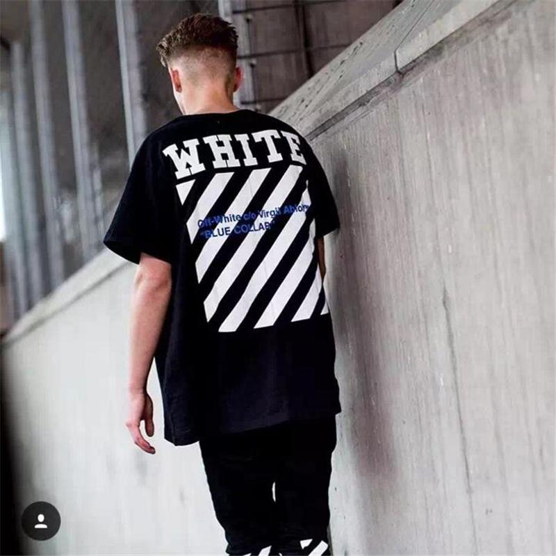 86f30a4ff7a0 OFF White C/O Virgil Abloh Lightning Union Men Women Short Sleeve Tee Shirt  hip hop men cotton tshirt 100% cotton off white tee