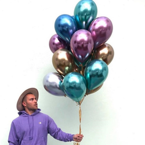 12inch Metal Chrome color Latex balloon -- Great for Kids , Adult Birthdays, Wedding ,baby shower party decoration