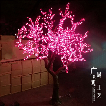 Lighting White LED artificial Cherry Blossom Tree for Wedding  shop Festival decoration