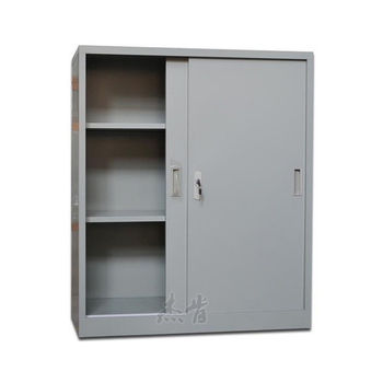 Small Lockable Steel Sliding Door Stationery Cupboard With