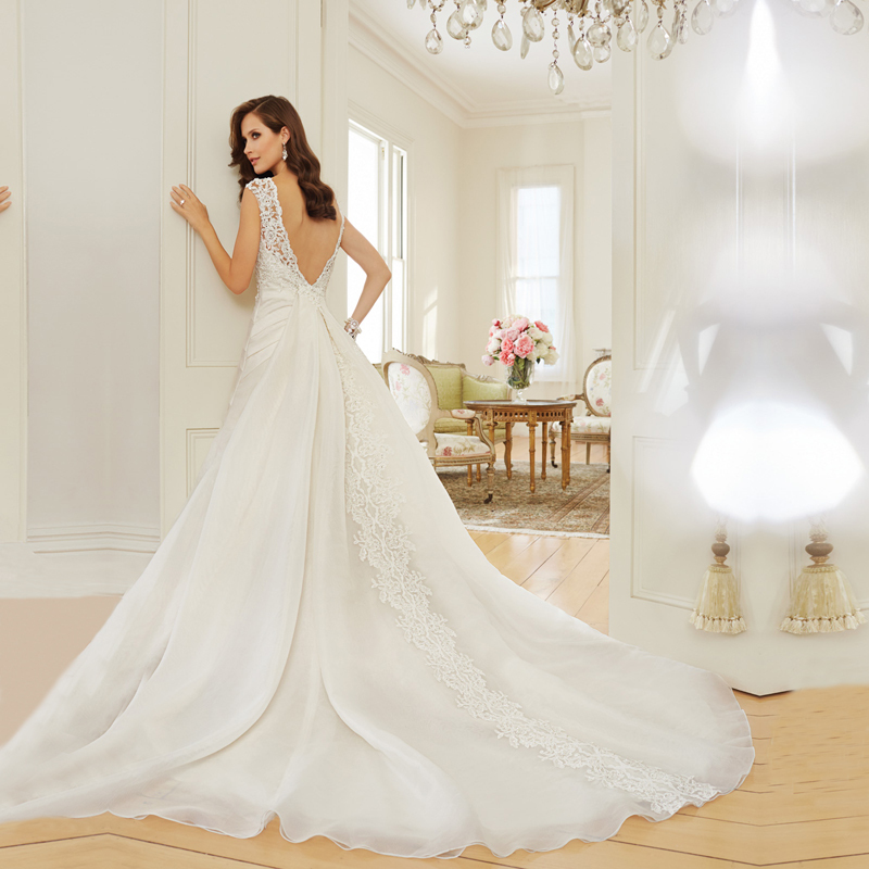 20 Elegant Simple Wedding Dresses Of 2015: DSW166 Vestido De Noiva 2015 Elegant Wedding Dresses Robe