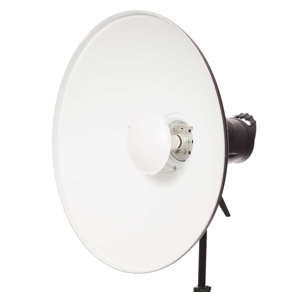 "Fovitec StudioPRO Photography Strobe Lighting Monolight Beauty Dish 22"" Kit w Honeycomb Grid Alien Bees Speedring"