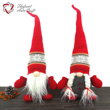 China supplier fabric ornaments christmas holiday crafts sitting felt gnomes