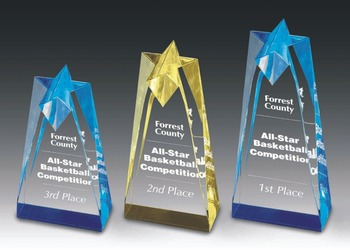 Crystal Acrylic Medal StandAwards Trophy Plaques