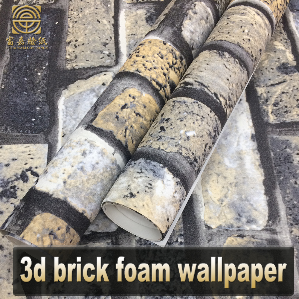 New royal 3d foam brick design carta da parati decorazione per la casa
