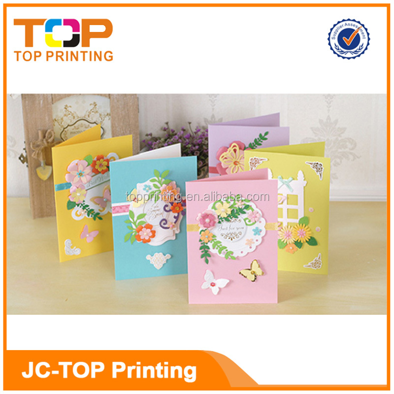 Promotional Gifts Wholesale Paper Cut Airplane 3D Pop Up Card Birthday