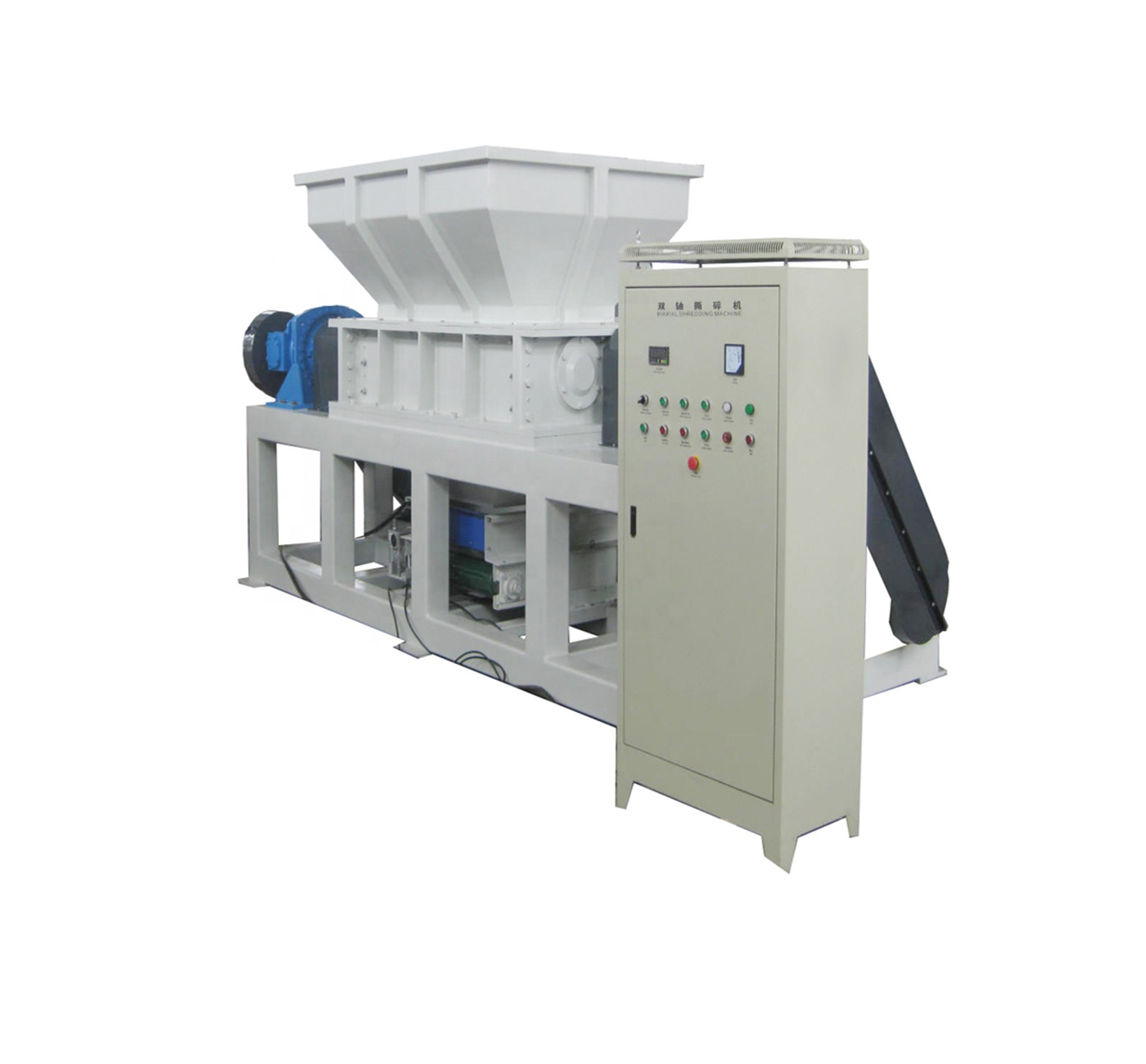 800-1500kg.h Dubbele As Shredder Recycling Machine
