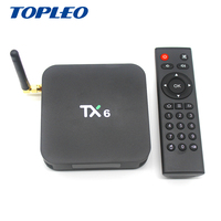 Wholesale TX6 Allwinner H6 software OTA download android smart internet tv e digital free to air cable set top box