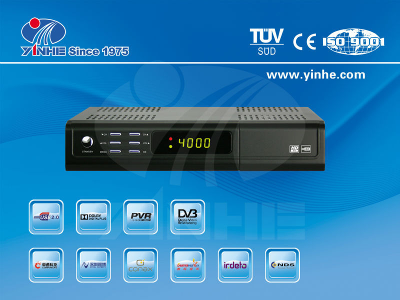 Yinhe HD Digital Terrestrial Satellite Receiver DVB-T2+S2 combo STB