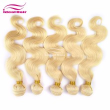 ideal ture length hair weave color #4,best selling body wave ombre color hair,raw color #2 peruvian hair