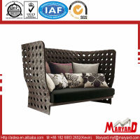 PE Rattan Wicker round outdoor garden sofa rattan & wicker sofa set