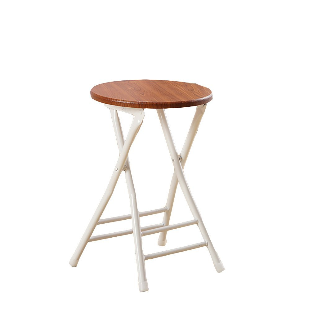AIDELAI Stool Fashion Simple Folding Chair Home Adult Dining Chair Backrest Training Chair Folding Stool Stool Outdoor Chair (40 40 78cm) Saddle Seat ( Color : A )