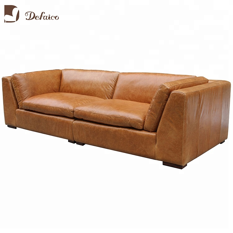 Brown Full Grain Leather Reclining