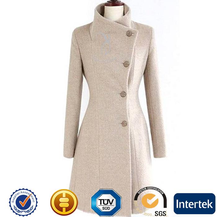 100% Mongolian Cashmere Women's Coat With Button - Buy Black Coat ...