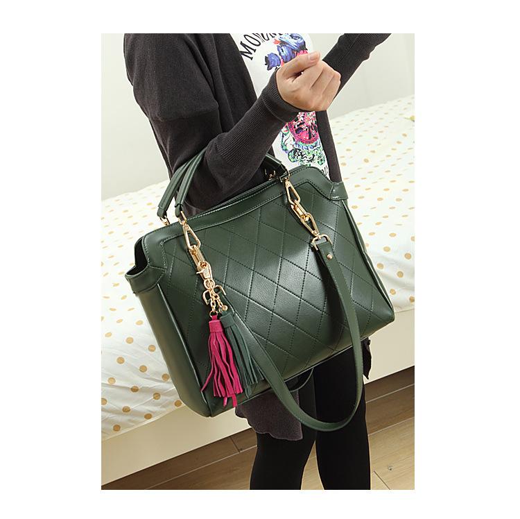 Get Quotations · Factory Wholesale Green Blue Black Colors Shoulder Bags  Fashion Diamond Lattice Handbags c04ffa431f