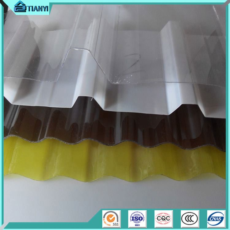Hot Sale Bayer Markrolon Uv Coated Extruded Corrugated Impact Resistance Waterproof Laminas De Policarbonatos Sheet