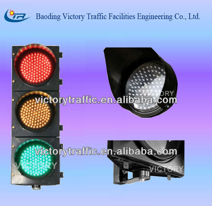 led traffic signal light/200mm red yellow green traffic light/road safety signal
