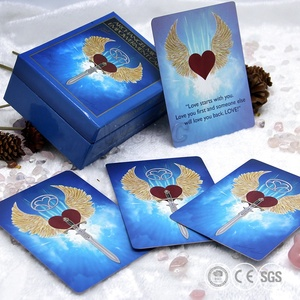Custom Cheap Printed Full Color Printing Oracle Cards Tarot Cards Made Tuck Box For Game Cards