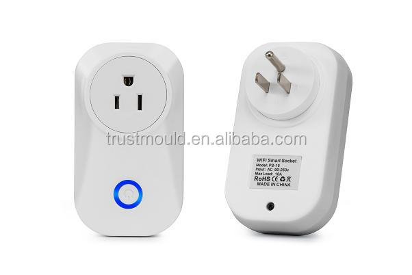 FCC CE RoHS Hot smart home plug socket smart wifi socket plug with Alexa echo