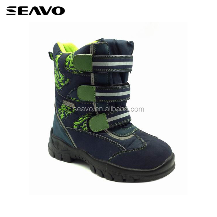 SEAVO SS17 cheap wholesale high quality trendy kids blue sports hiking shoes