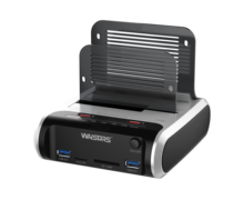 Usb 3.0 dual bay docking station hard drive enclosure per SATA I II III <span class=keywords><strong>hdd</strong></span> e ssd recinzione esterna