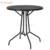 Online sale round table stacking contemporary iron mesh metal patio dinning furniture set
