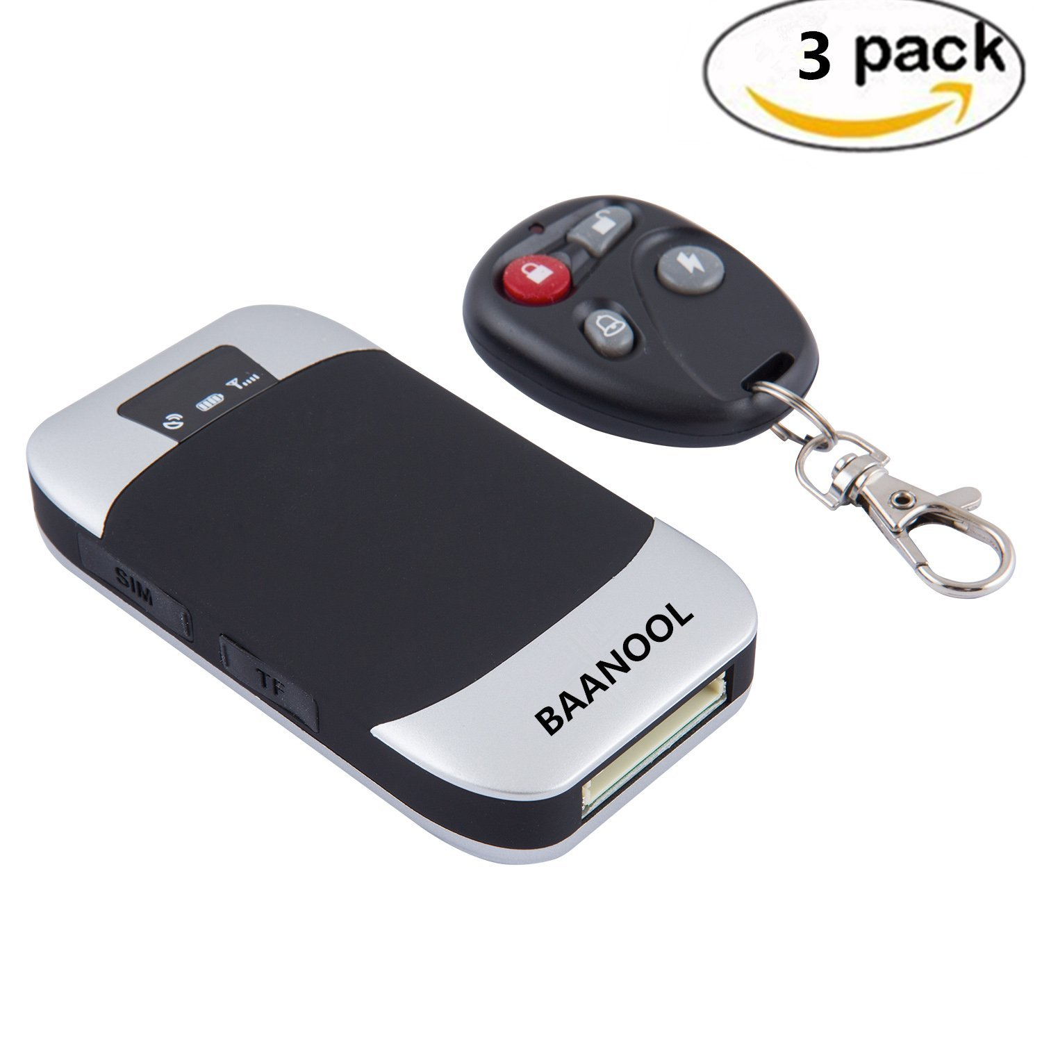 BAANOOL 3PCS Mini Portable GPS tracker Vehicle Car GPS Tracker with Remote Vehicle Tracking Device GPS Real Time Tracker with Vehicle Tracking System 303I