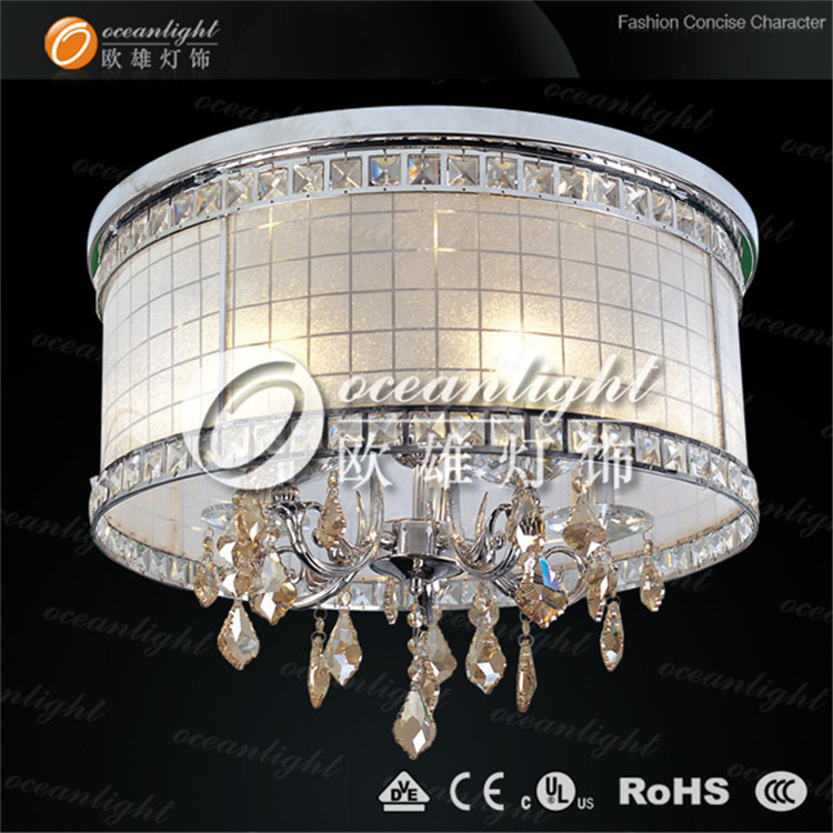 Huge crystal chandelier ,white clear lamps OM937