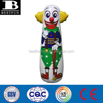 Factory Custom Inflatable Clown Toys Punching Bag Kids Bop Bags