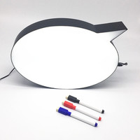 Cinema Style Light Box Speech Bubble Sign LED Message Drawing Hanging Writing Board