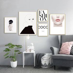 Modern Fashion Makeup Canvas Paintings Poster and Prints Home Decor