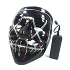 Home brand Hot selling LED mask masquerade el wire party mask cosplay led purge mask