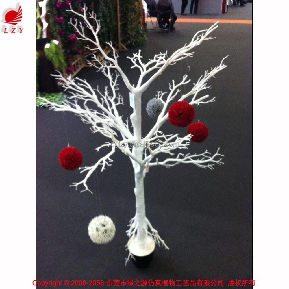 Rboles decorativos de madera blanca coral rama de rbol for Arboles decorativos para jardin