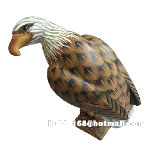 Custom wooden figures, Wood carving eagles / birds, Wooden handicrafts