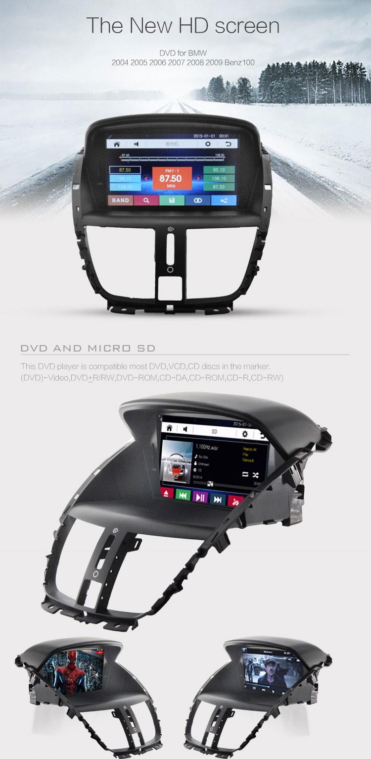 single 1 din wince6 0 car dvd player for peugeot 207 gps. Black Bedroom Furniture Sets. Home Design Ideas