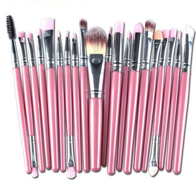 Best selling make up case professionele hoge end cosmetica groothandel roze makeup brush set